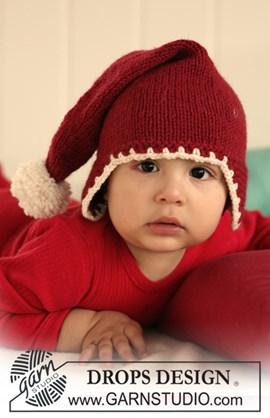 DROPS Kerstmuts met pompon van ....