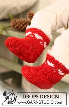 Kerst sokken met hartjes rand