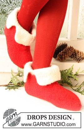 DROPS gevilte sloffen voor Kerst ....