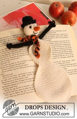 Gehaakte sneeuwpop boekenlegger