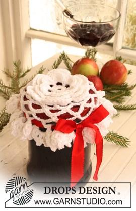 Gehaakte deksel decoratie voor een Kerst cadeau