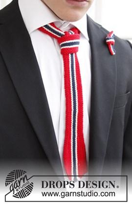 Gebreide stropdas en strik in nationale kleuren van Safran
