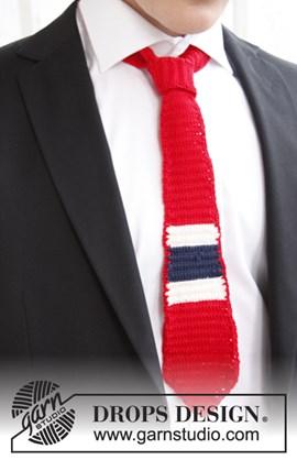 Gehaakte stropdas in nationale kleuren van Safran