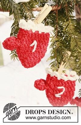 Gehaakte Kerst kalender wanten