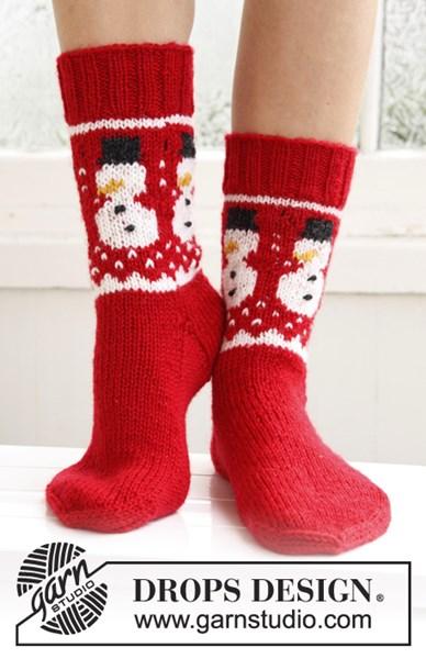 Breipatroon Gebreide sokken met Kerst patroon