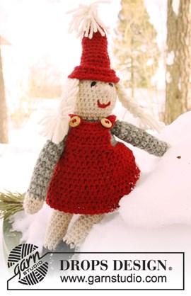 Gehaakte kerstvrouw