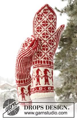 Warme en zachte wanten met kerstpatroon ....