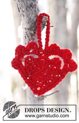 Een warm, rood hart voor Kerstmis. Van ....