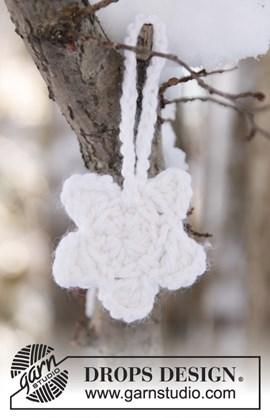 Witte gehaakte ster voor de Kerst, leuk ....