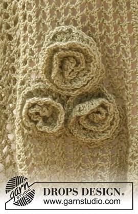 Gehaakte bloem voor op de sjaal