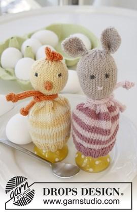 Gebreide eierwarmers voor Pasen van Baby Merino.