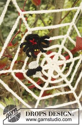Spinnenweb met spin en vlieg