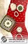 Brei- en haakpatroon Gebreide en gehaakte Kerst sok  van andere kant
