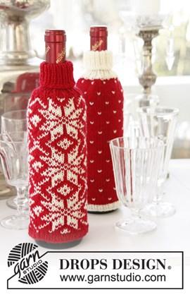 Gebreide flessenhoezen voor Kerst