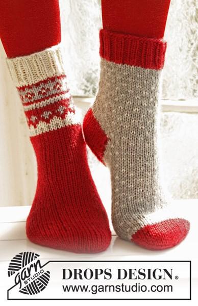 Breipatroon Gebreide Kerst sokken