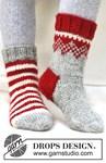 Breipatroon Gebreide Kerst sokken van andere kant