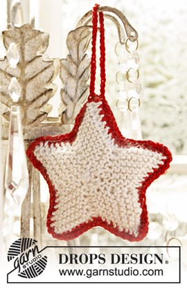 Gebreide Kerst ster