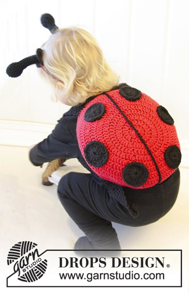 Haakpatroon Gehaakt lieveheersbeestje met schouderbanden van Paris.