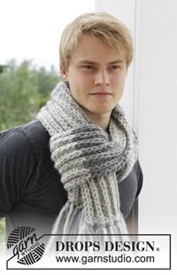 haakpatroon gebreide-sjaal-met-franjes