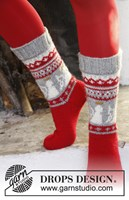 Gebreide sokken met engeltjes