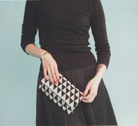 Haakpatroon handtasje, gemaakt van ....