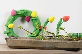 Krans en bloemen