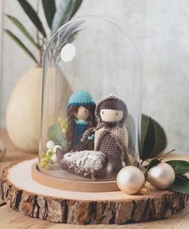 Kerststolp Jozef, Maria en baby Jezus