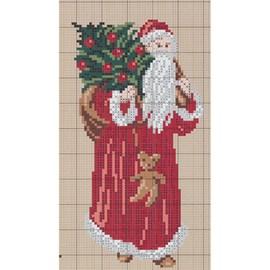 Borduurwerk van de Kerstman.