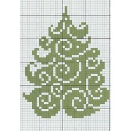 Borduurwerk van een kerstboom en ....
