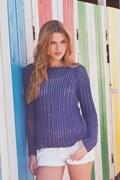 Breipatroon trui, gemaakt van DMC Just ....