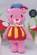 Haakpatroon roze Gummi beer met geel en ....