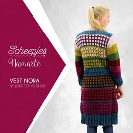 Haakpatroon Vest Nora, lang damesvest ....