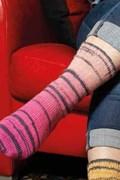 Breipatroon sokken met tijgerprint met ....