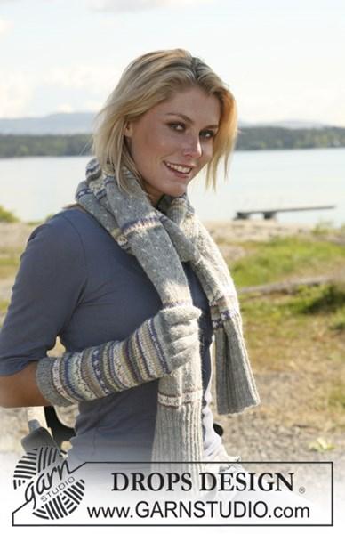 Breipatroon Sjaal en handschoenen