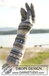 Sjaal en handschoenen van andere kant