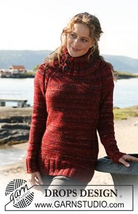 DROPS Lange, getailleerde trui met ....
