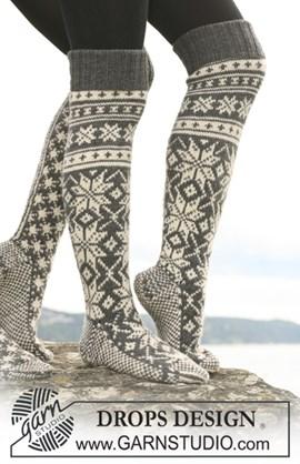 Gebreide DROPS sokken met Noors ....