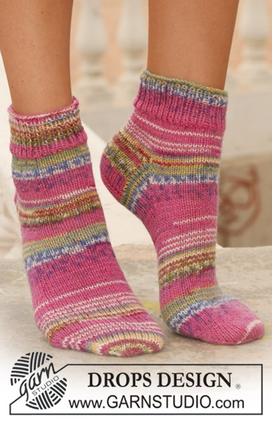 Breipatroon Korte DROPS sokken