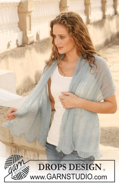 Breipatroon sjaal met kantpatroon