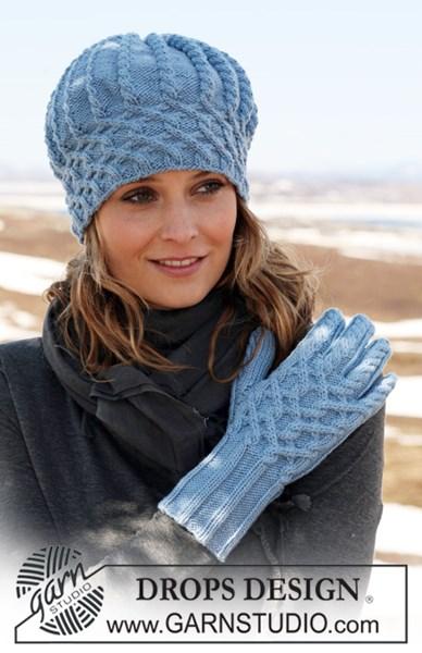 Breipatroon muts en handschoenen