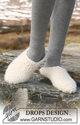 DROPS slippers in ribbelst van ....