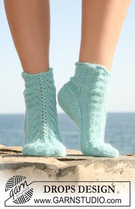 Gebreide DROPS sokken van Alpaca met ....