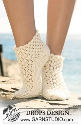 DROPS sokken zijdelings gebreid met ....
