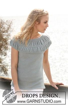 DROPS mouwloze trui van Alpaca met ....