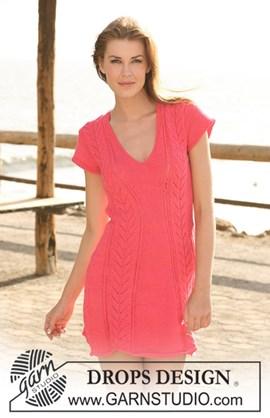 DROPS jurk van Muskat met kantpatroon ....