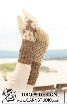 Gebreide handschoenen met rendieren
