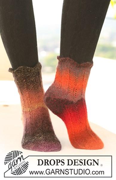 Breipatroon Sokken met zigzag patroon