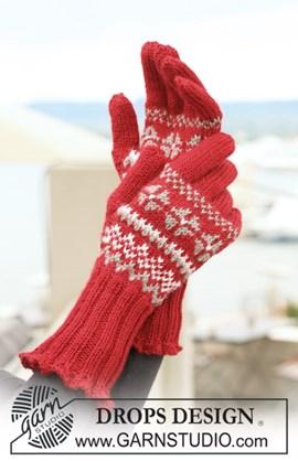handschoenen met Noors patroon.