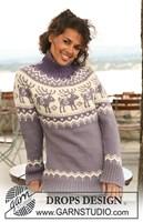 trui met raglanmouwen en rendier patroon