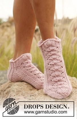 Korte gebreide DROPS sokken met ....